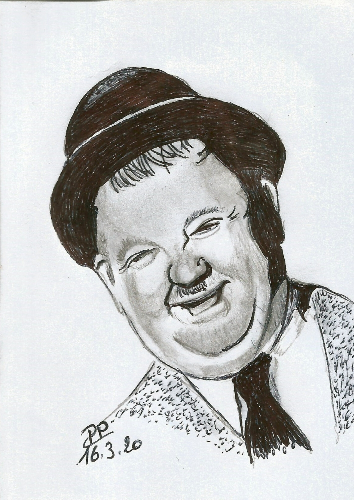 Oliver Hardy by Patoux